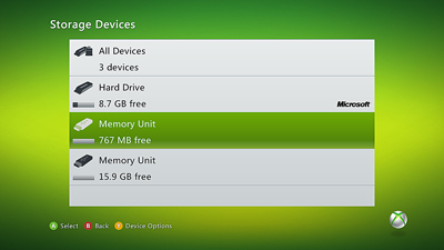 (It doesnu0027t matter which storage device you select; the cache will be cleared for all storage devices.) & Clearing your Xbox 360 System Cache | Unknown Tech Solutions